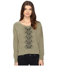 Amuse Society Rampart Pullover Army Women's Sweatshirt Green