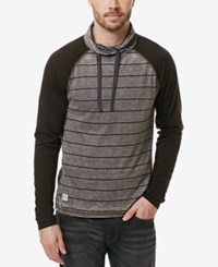 Buffalo David Bitton Men's Stripe Pullover Hoodie Cannon