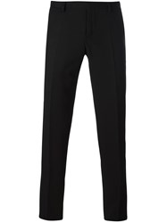 Armani Collezioni Pinstriped Tailored Trousers Black