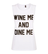 Private Party Wine Me And Dine Me Muscle Tank Female White
