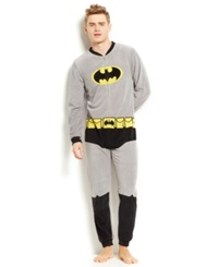 Briefly Stated Batman Union Suit Grey Black