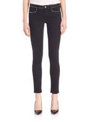 Paige Studded Hoxton Skinny Ankle Jeans Studded Imperial Noir