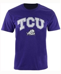 Colosseum Men's Texas Christian Horned Frogs Gradient Arch T Shirt Purple