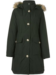 Woolrich 'Long Bear' Coat Green