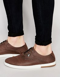 Lyle And Scott Connell Plimsolls In Waxed Canvas Brown