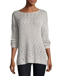 Young Fabulous And Broke Ina Lace Up Back Sweater Grey