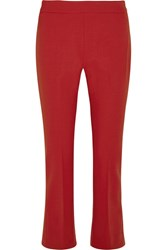 Max Mara Cropped Stretch Wool Flared Pants