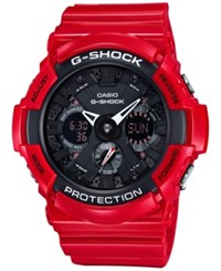G Shock Men's Analog Digital Red Resin Bracelet Watch 51Mm Ga201rd 4A