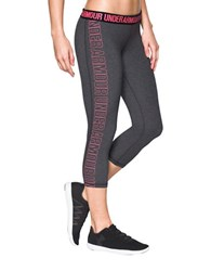 Under Armour Solid Logo Printed Capri Pants Carbon Heather