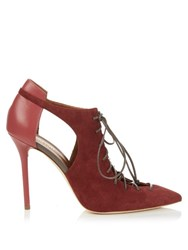 Malone Souliers Montana Suede And Leather Pumps Dark Pink