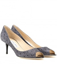 Jimmy Choo Isabel Peep Toe Pumps Grey