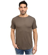 Rustic Dime Heather French Terry Long Tee Olive Men's T Shirt