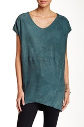 Muubaa Shelby T Shirt Suede Tunic Green