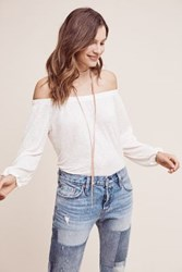 Anthropologie Maude Off The Shoulder Top Nude