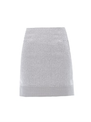 Richard Nicoll Micro Check Cotton Blend Skirt