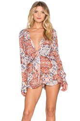 Raga Sunset Gold Romper Orange