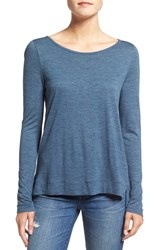 Madewell Women's 'Anthem' Boatneck Tee Heather Harbor