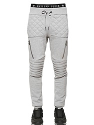 Philipp Plein Biker Cotton Jogging Pants Grey