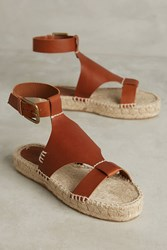 Anthropologie Soludos Ankle Cinched Espadrilles Honey