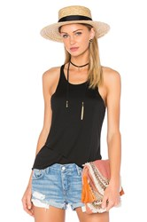 Bella Luxx Double Layer Racer Tank Black