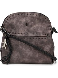 Henry Beguelin Stitched Details Shoulder Bag Brown