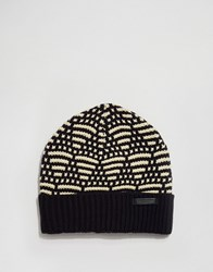 Scotch And Soda Chunky Knit Beanie Hat Navy