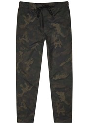 Rag And Bone Everett Camouflage Brushed Shell Trousers Olive