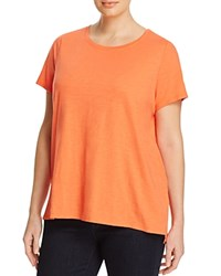 Eileen Fisher Plus Organic Cotton Tee Guava