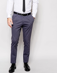Sisley Suit Trousers With All Over Jacquard In Slim Fit Navy