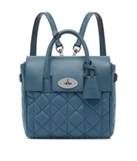 Mulberry Cara Mini Quilted Nappa Backpack Steel Blue