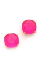 Kate Spade Small Square Stud Earrings Flo Pink