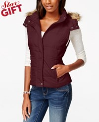 American Rag Faux Fur Trim Puffer Vest Only At Macy's Zinfindel