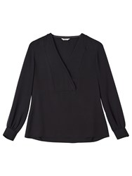 Precis Petite By Jeff Banks V Neck Blouse Black