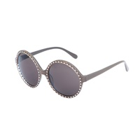 Heidi London Studded Circular Sunglasses Black