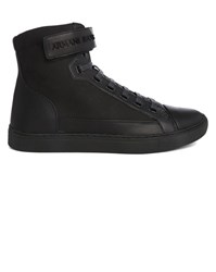 Armani Jeans Navy Aj Velcro High Top Sneakers