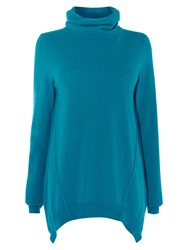 Karen Millen Roll Neck Tunic Teal