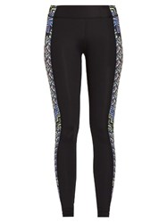 Mara Hoffman Rugs Print Panelled Performance Leggings Black Multi