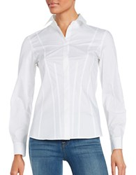 Dkny Long Sleeve Button Down Dress Shirt White