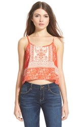 Lush Print Camisole Red