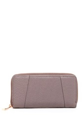 Kooba Zip Around Leather Wallet Gray