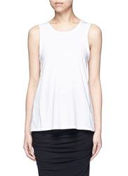 James Perse Wrap Back Cotton Tank Top White