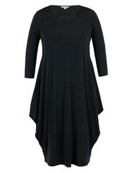 Chesca Black Tuck Detail Jersey Dress Black