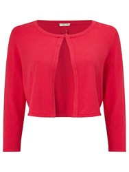 Jacques Vert Petite Edge To Edge Cardigan Bright Red