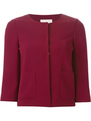 L'autre Chose Boxy Cropped Jacket Red