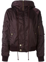 Chloe Hooded Puffer Jacket Pink And Purple
