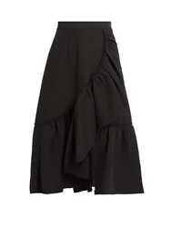 Rachel Comey Bonnie Ruffled Cotton Blend Skirt Black