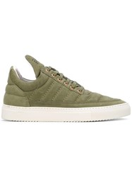 Filling Pieces Perforated Sneakers Green