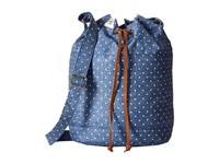 Herschel Carlow Limoges Crosshatch White Polka Dot Backpack Bags Blue