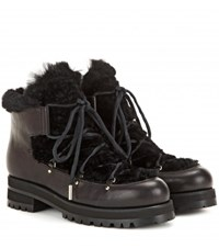 Jimmy Choo Ditto Fur Lined Leather Boots Black