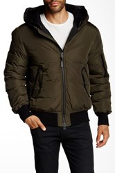 Mackage Arto Genuine Leather Down Jacket Green